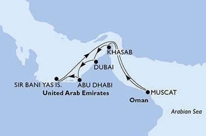 Abū Dabī un MSC kruīzs- AAE un Omāna